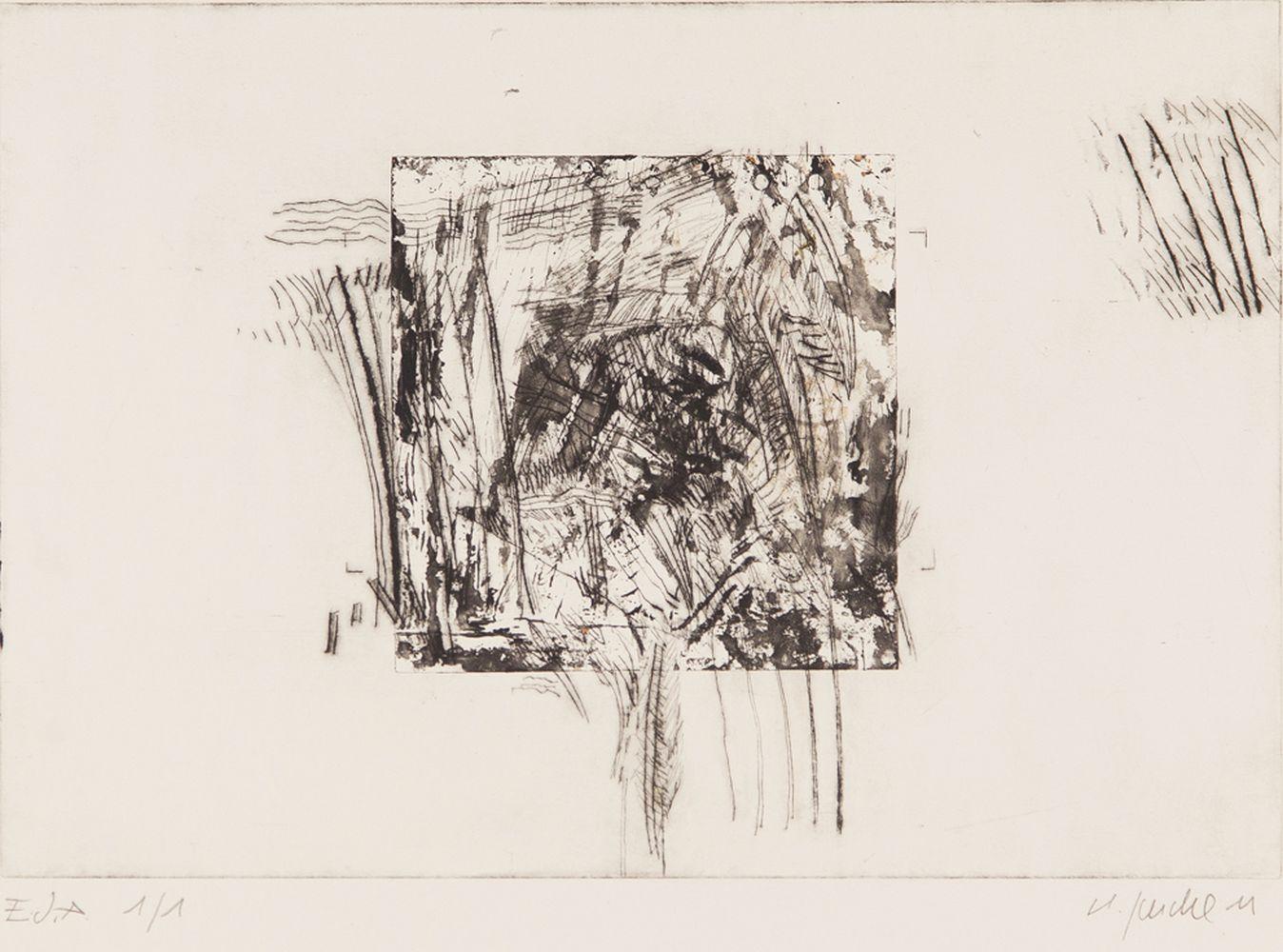 Square Garden - Kaltnadelradierung auf Tiefdruckpapier 45x40cm - 2011