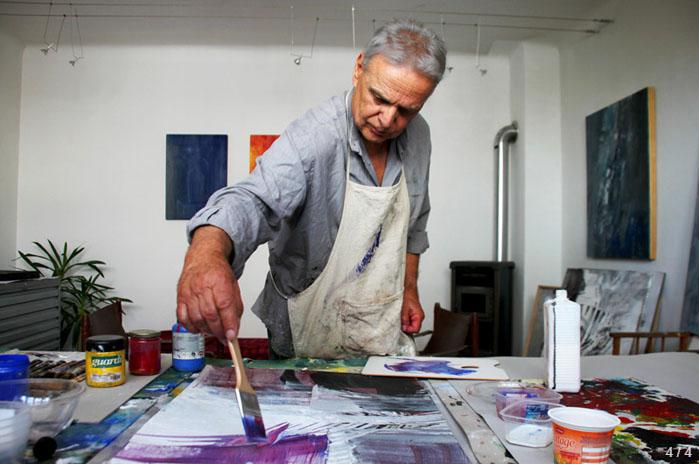 Heribert Jascha im Atelier